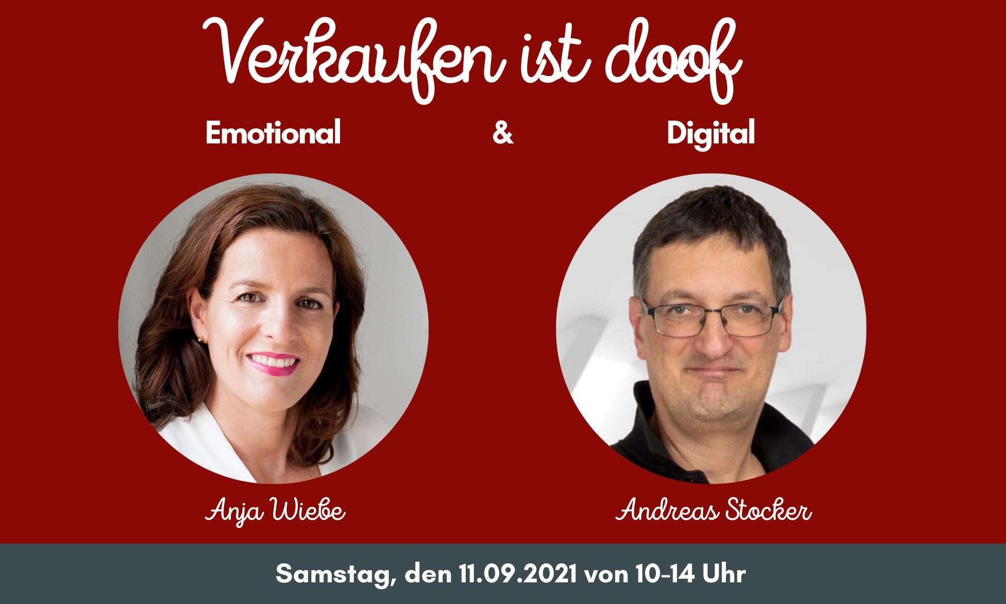 Workshop - Verkaufen ist doof - mit Anja Wiebe und Andreas Stocker